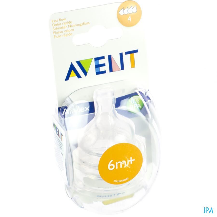 Avent Tetine Fast 4trous 2