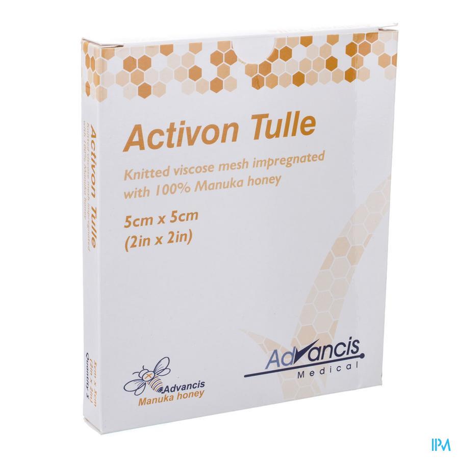 Activon Tulle Pans N/adh 5x 5cm 5