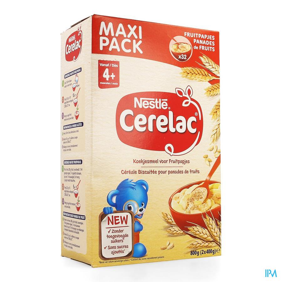 Nestle Cerelac Koekjesmeel Fruitpapjes 800g