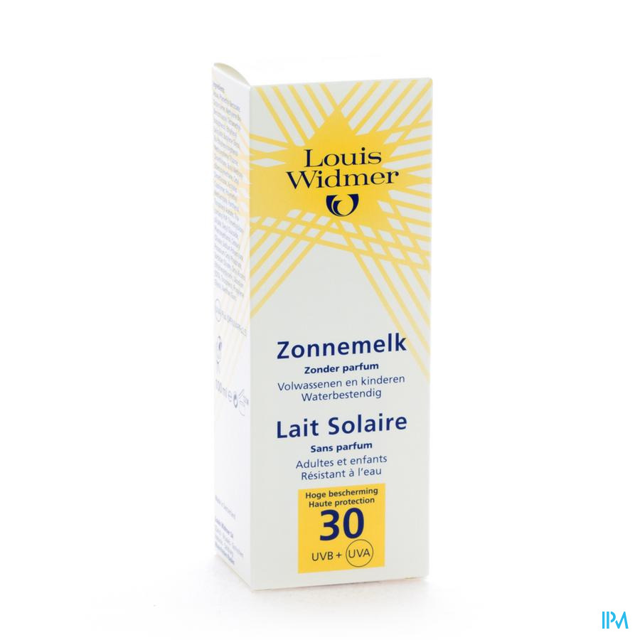 Widmer Sun Zonnemelk 30 Parf N/tube 100ml