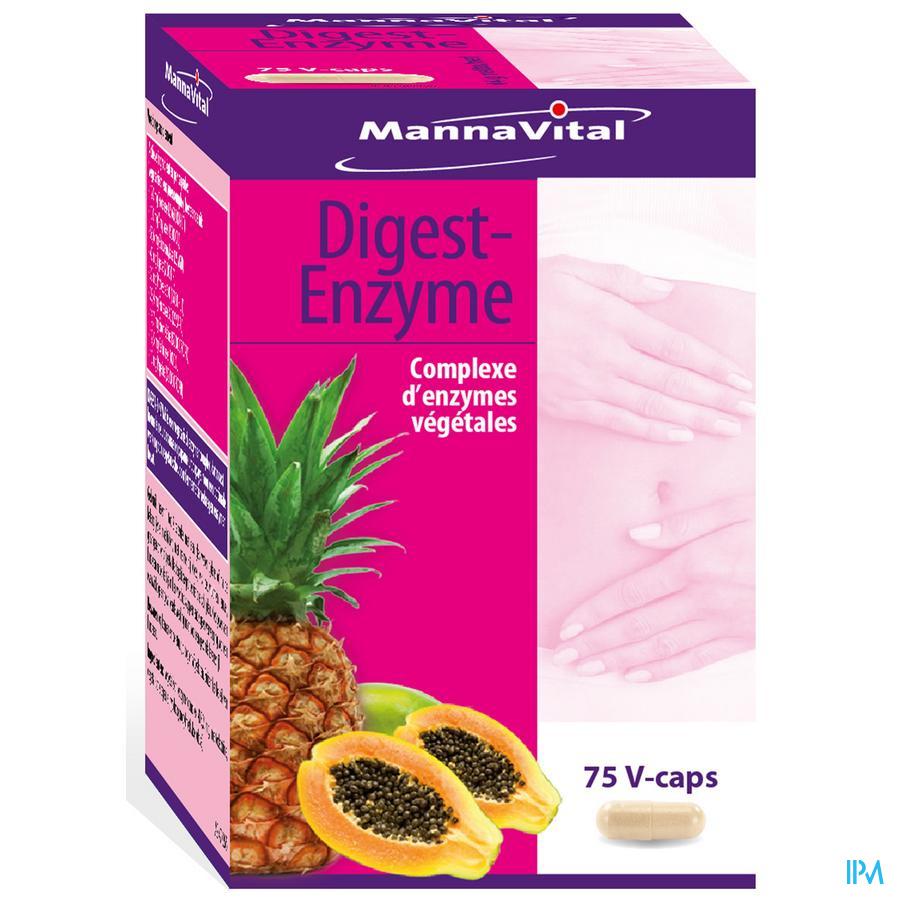 Mannavital Digest Enzyme V-caps 75