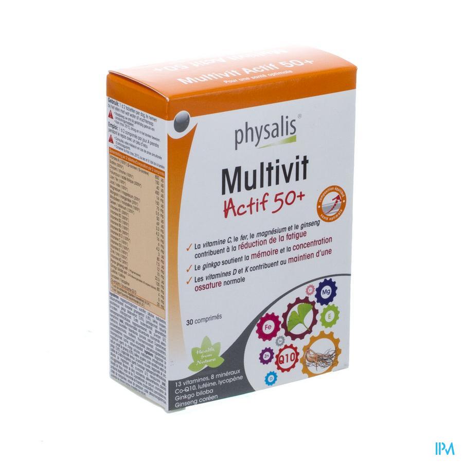 Physalis Multivit Actif 50+ Tabl 30 P10322