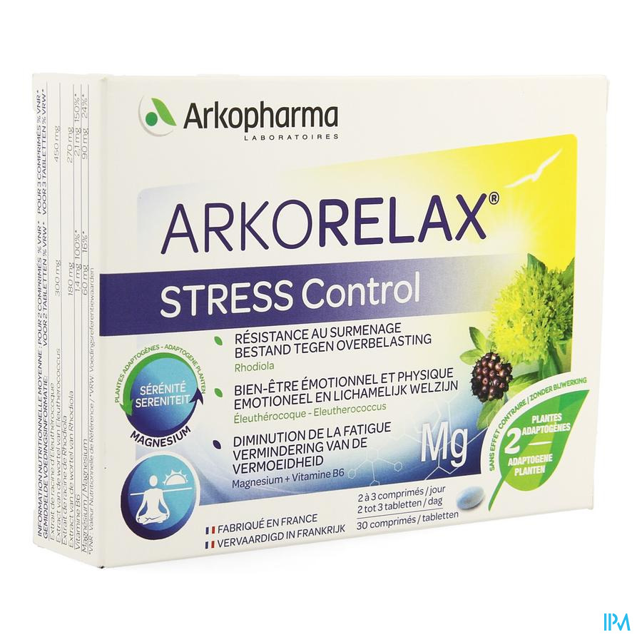 Arkorelax Stress Control Tabletten 30
