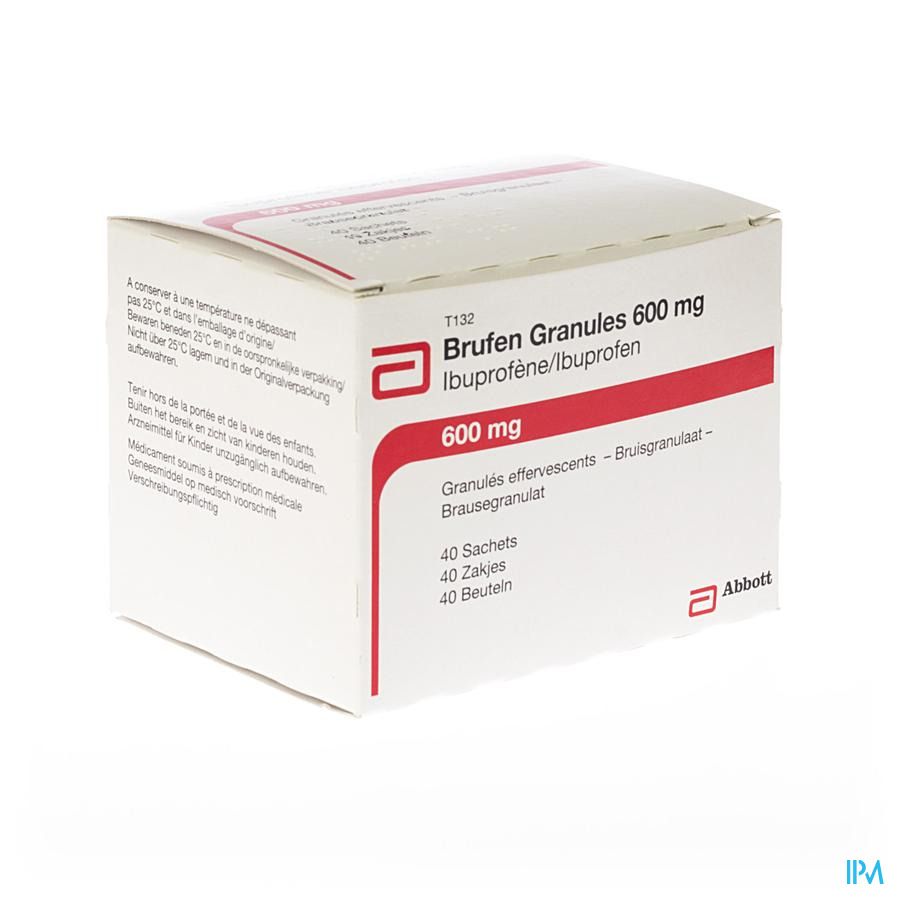 Brufen Gran 600 mg Zakjes 40 X 600 mg
