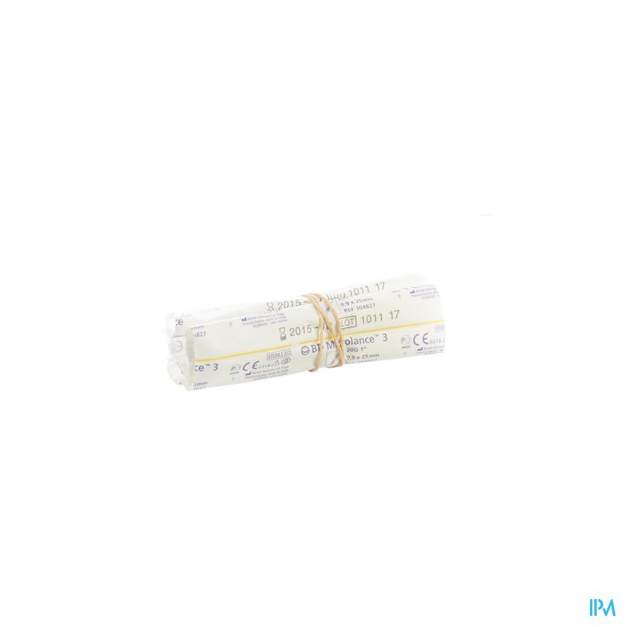 Bd Microlance 3 Naald 20g 1 Iv 0,9x25mm Geel 1