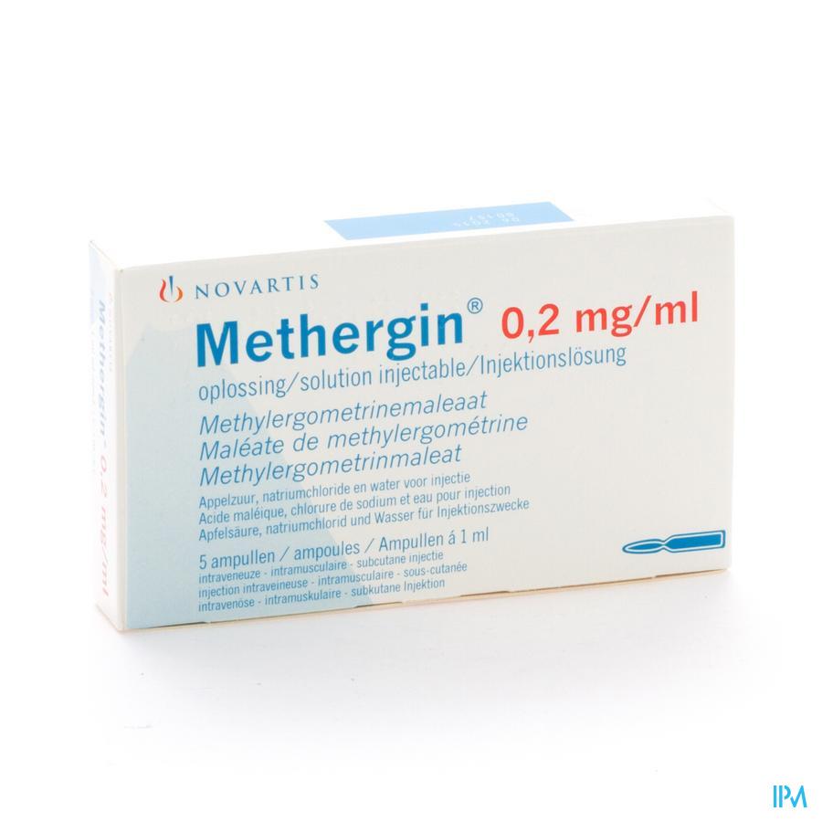 Methergin Amp 5 X 0,2mg/1ml