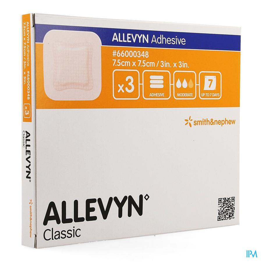 Allevyn Adhesive Pansement Hydrocel. 7,5x 7,5cm 3 66000348