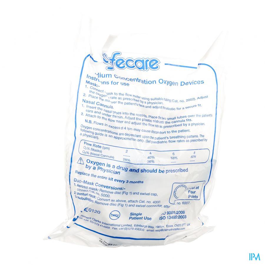 Lifecare Zuurstofmasker Volw + Slang 2011