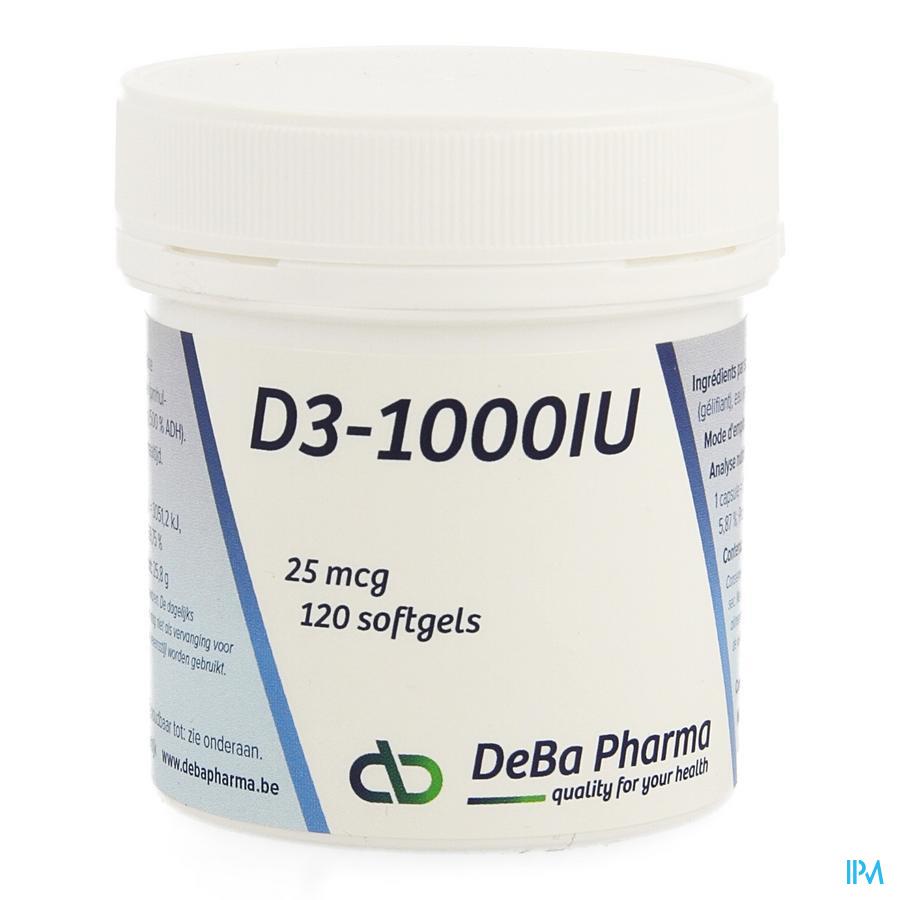 D3 1000iu Softgels 120 Deba