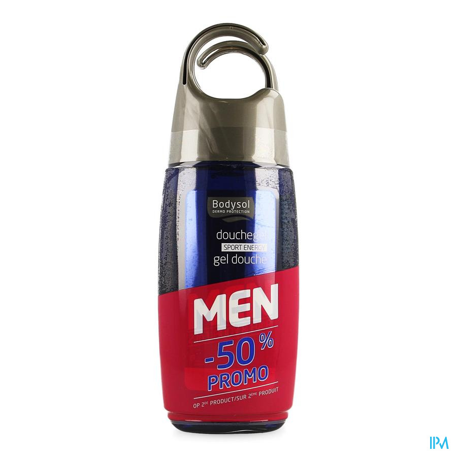 Bodysol Men Gel Douche Sport 2x250ml 2e -50%