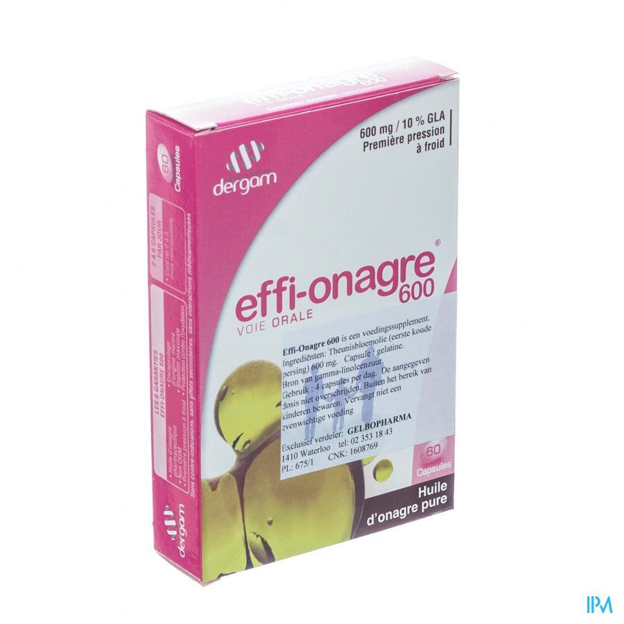 Effi Onagre Dergam Caps 60x600mg