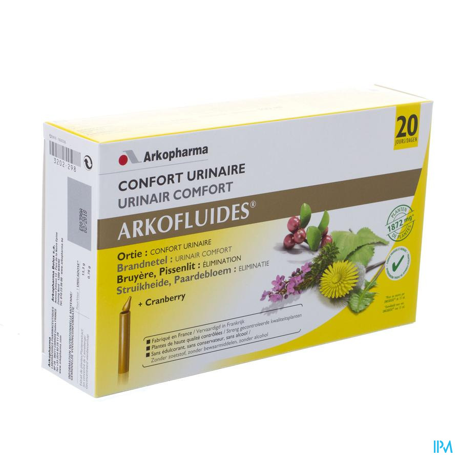 Arkofluide Confort Urinaire Unicadose 20