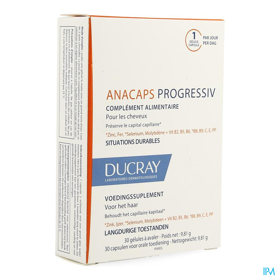 Ducray Anacaps Progresiv Caps 30