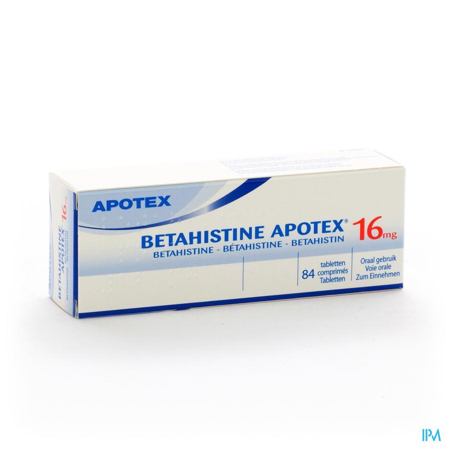 Betahistine Apotex 16mg Tabl. 84 X 16mg