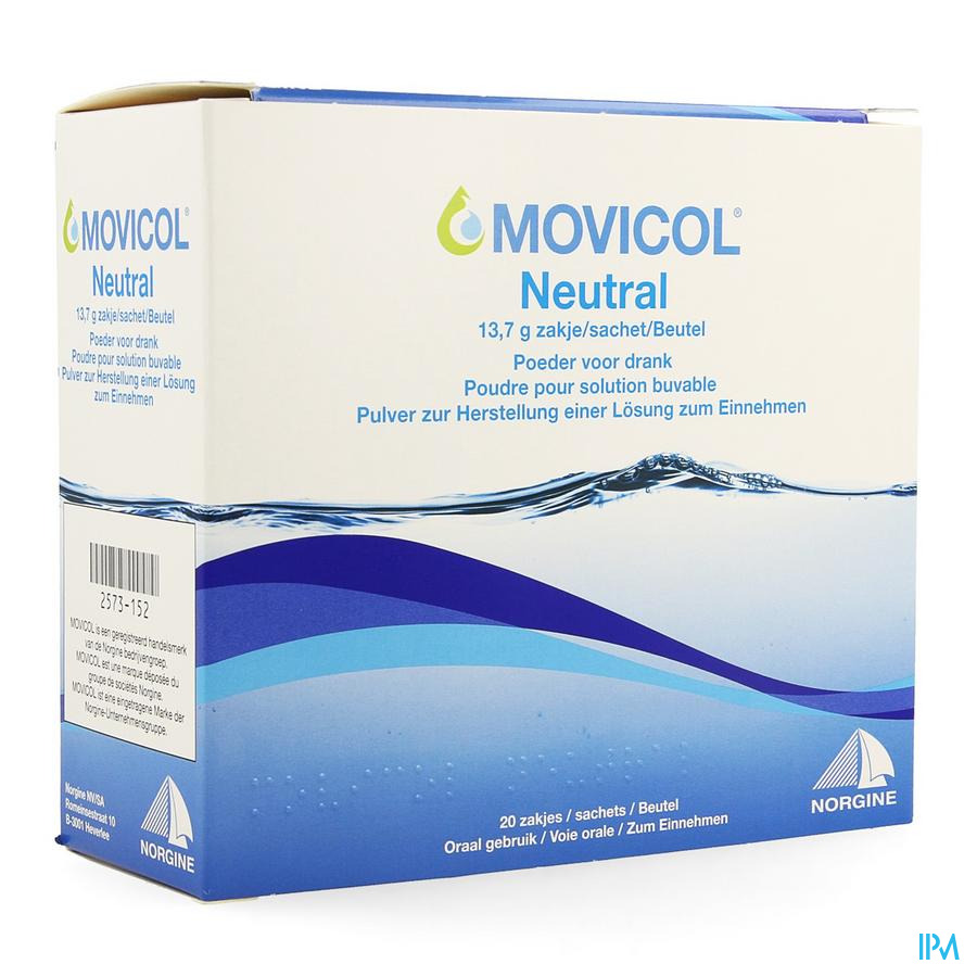 Movicol Neutral Zakjes 20 X 13,7g