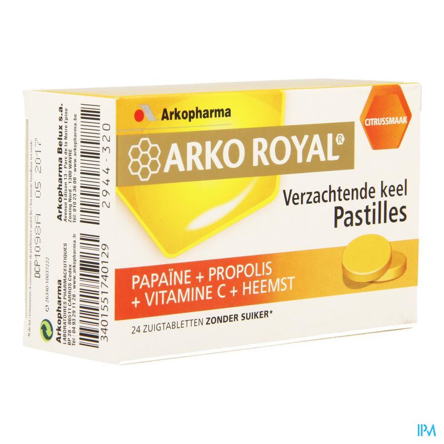 Arkoroyal Propolis-papaine-sinaas Zuigtabl 24