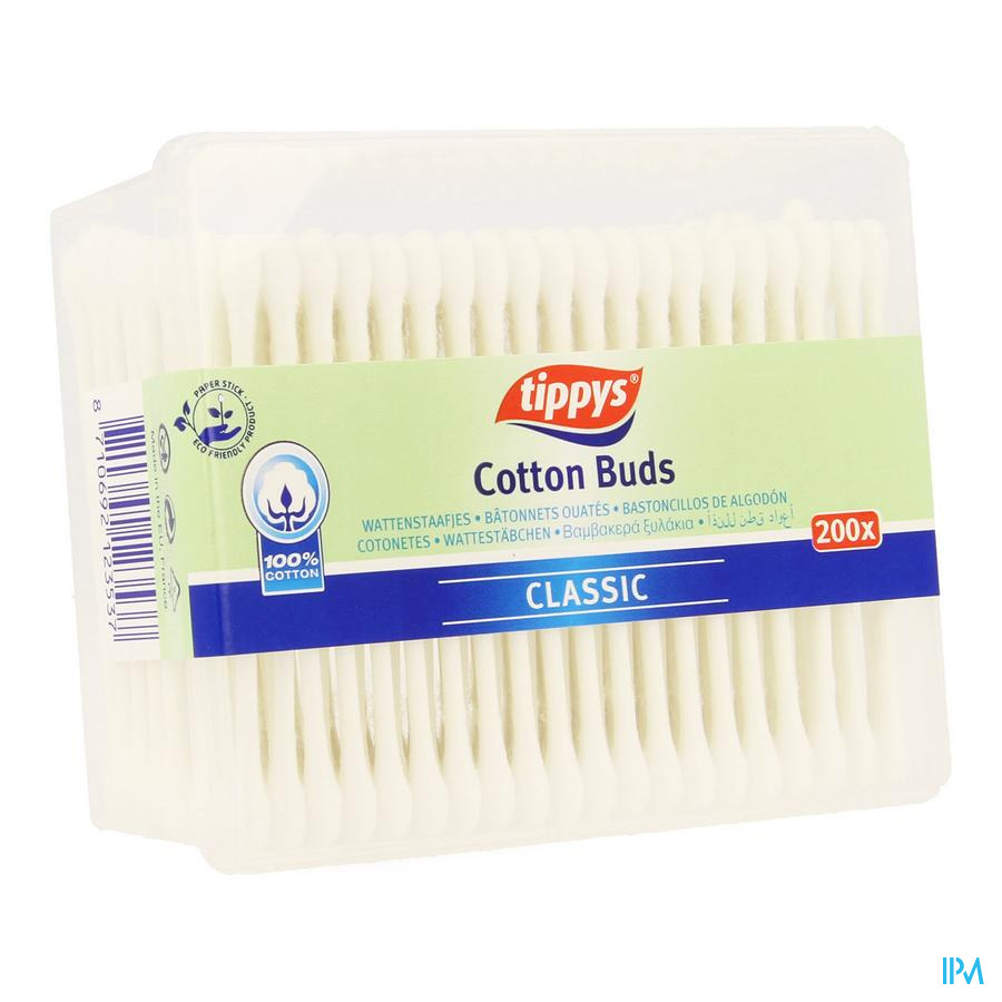 Tippys Coton Tiges Papier 200
