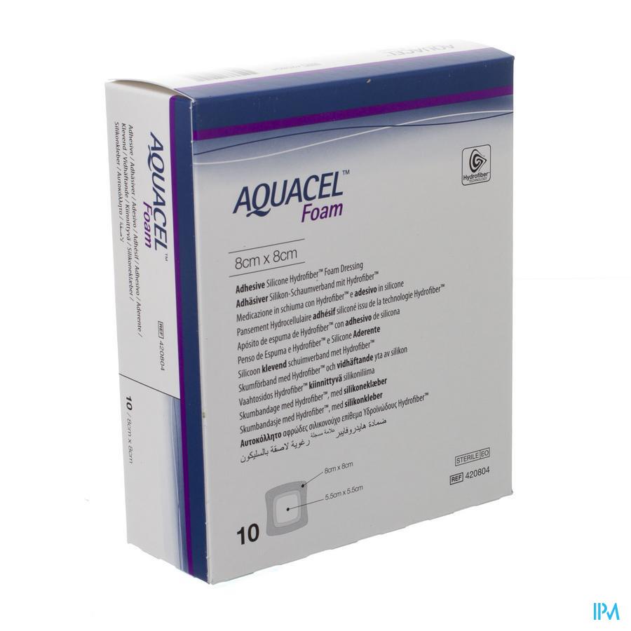 Aquacel Schuimverb Adh Hydrofiber 8,0x 8,0cm 10