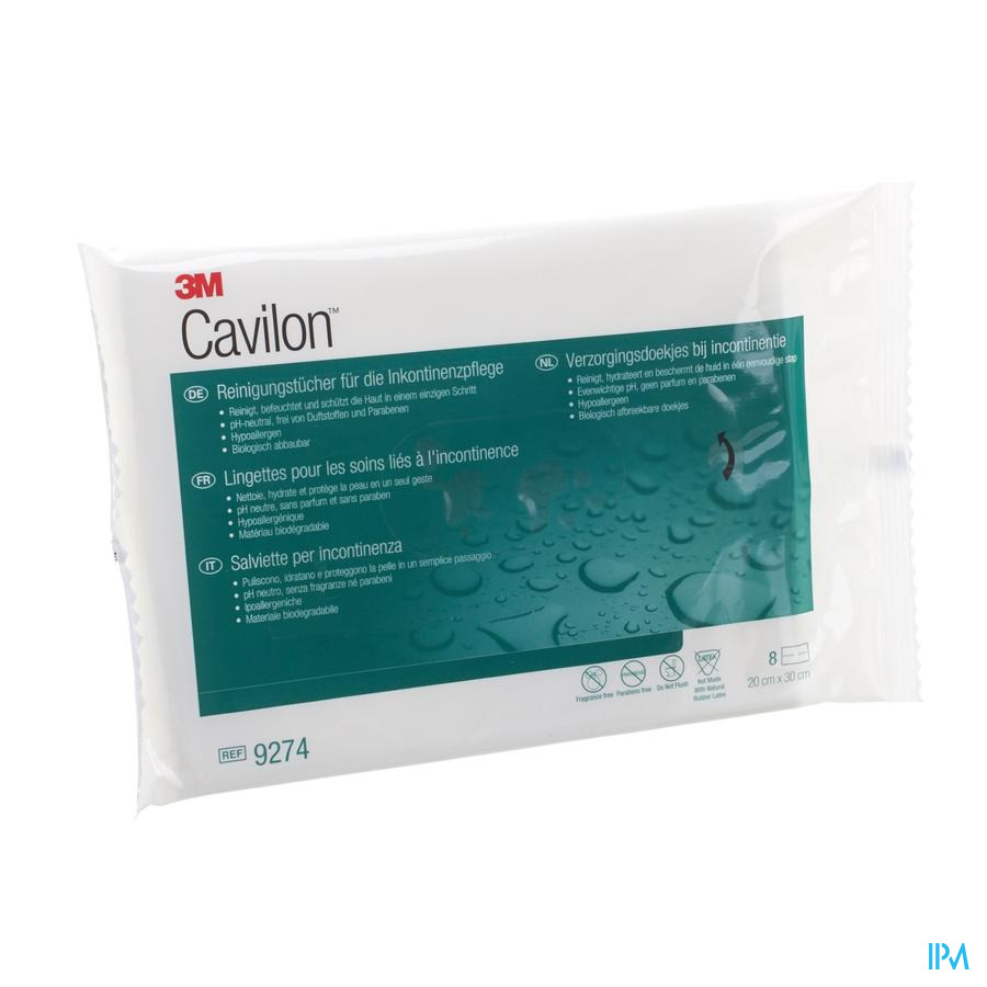 Cavilon Verzorgingsdoekjes Incontinentie 8 9274