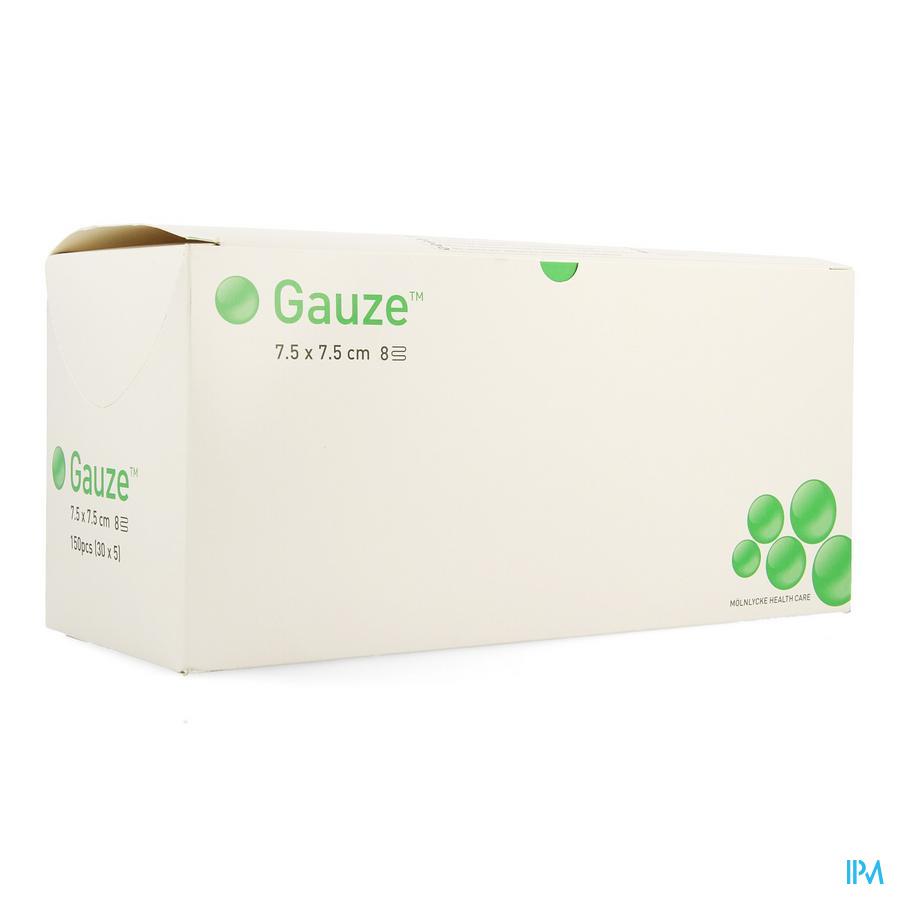 Compresse Gaze Molnl Ster 8c 7,5x 7,5cm 30x5