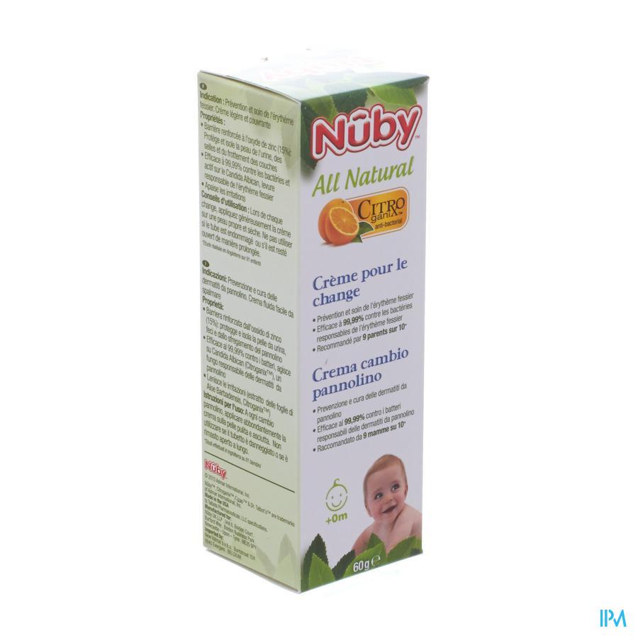 Nuby Citroganix Crème pour le change - 60g - 0m+