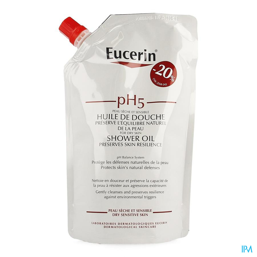 Eucerin Ph5 Douche Olie Navulling 400ml -20%