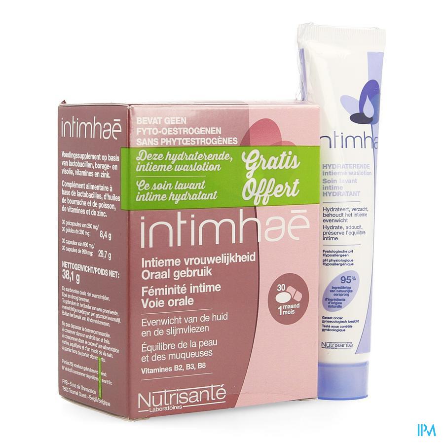 Intimehae Caps 60+soin Lav.intim. Hydra 40ml Grat.