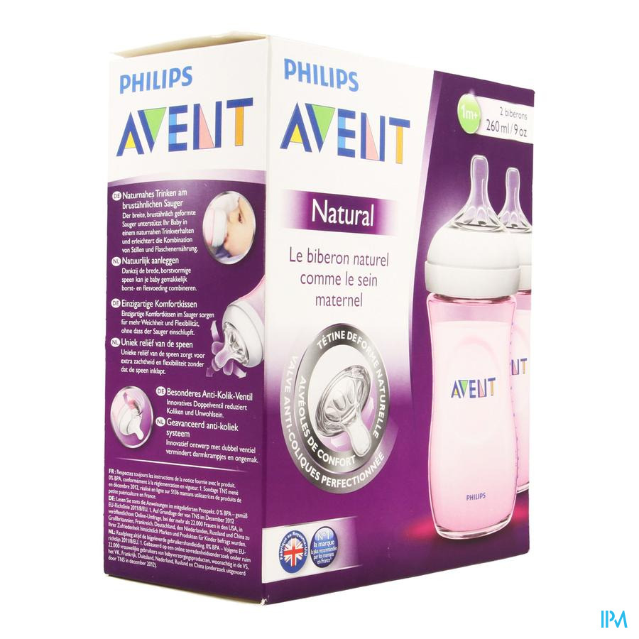 Avent Biberon Duo Natural 260ml