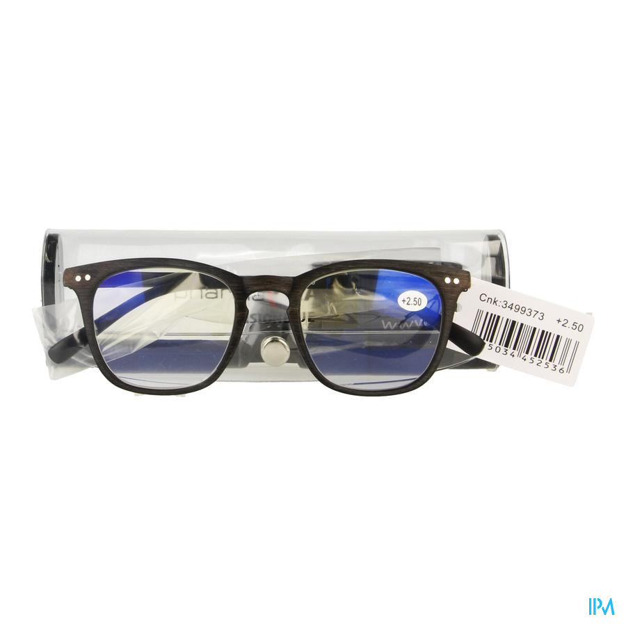 Pharmaglasses Visionblue Pc02 Lun.lect.+2.50 Brown