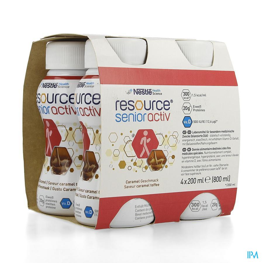 Resource Senior Active Caramel 4x200 ml  -  Nestle Belgilux