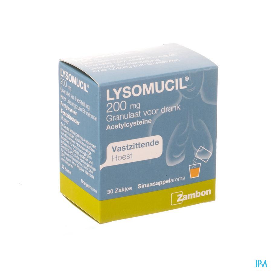 Lysomucil 200 Gran Sachets 30 X 200 mg