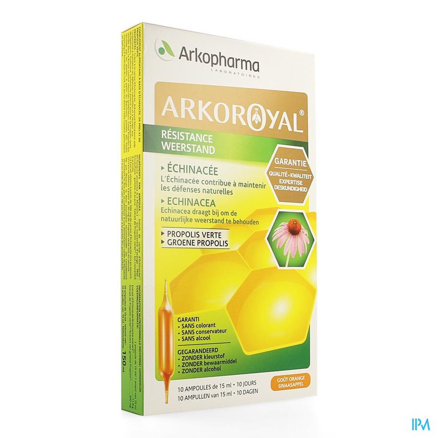 Afbeelding Arkoroyal voor de Weerstand met Echinacea, Groene Propolis en Honing 10 Ampules.