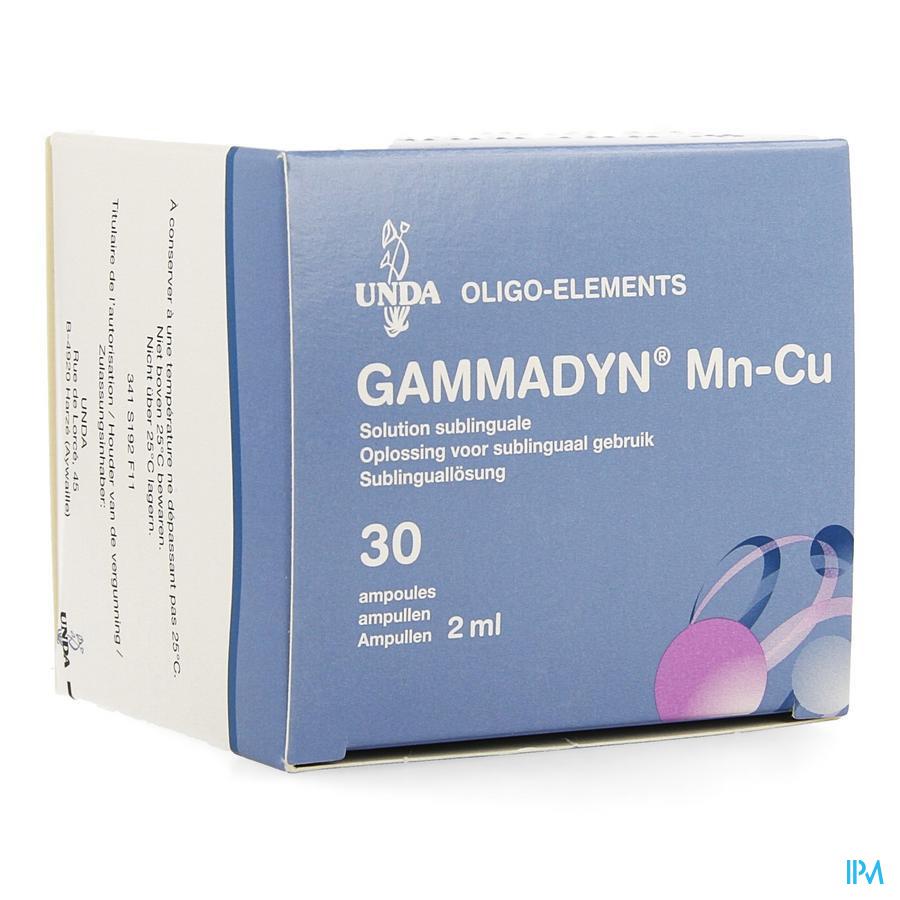 Gammadyn Amp 30 X 2ml Mn-cu Unda