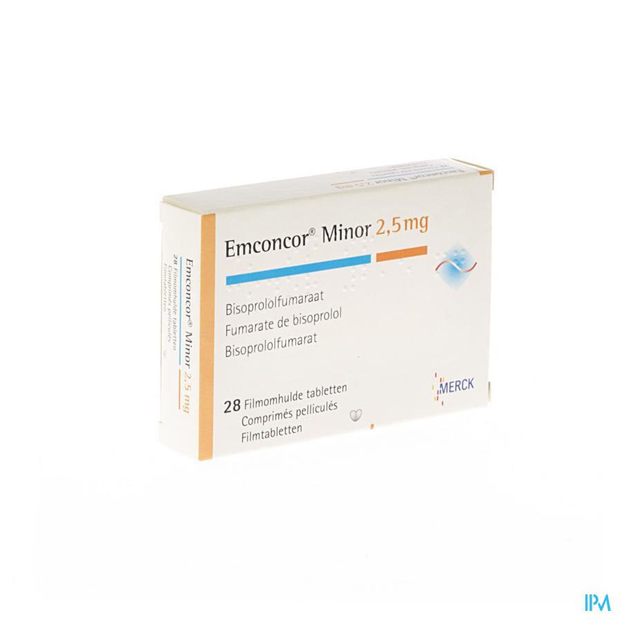 Emconcor Minor 2,5mg Tabl 28x2,5mg