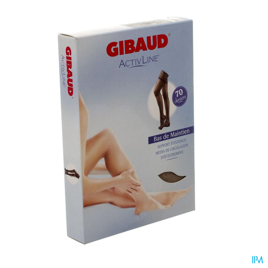 Gibaud Activline Kous A/verm.70d A/slip Hon.t3 832
