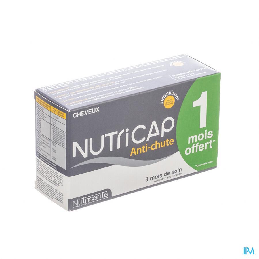 Nutricap Antichute 3mois+1 Grat.gel 120+60 Promo