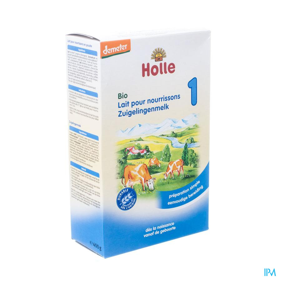 Holle Lait Nourrissons 1 Bio Pdr 400g Bh100
