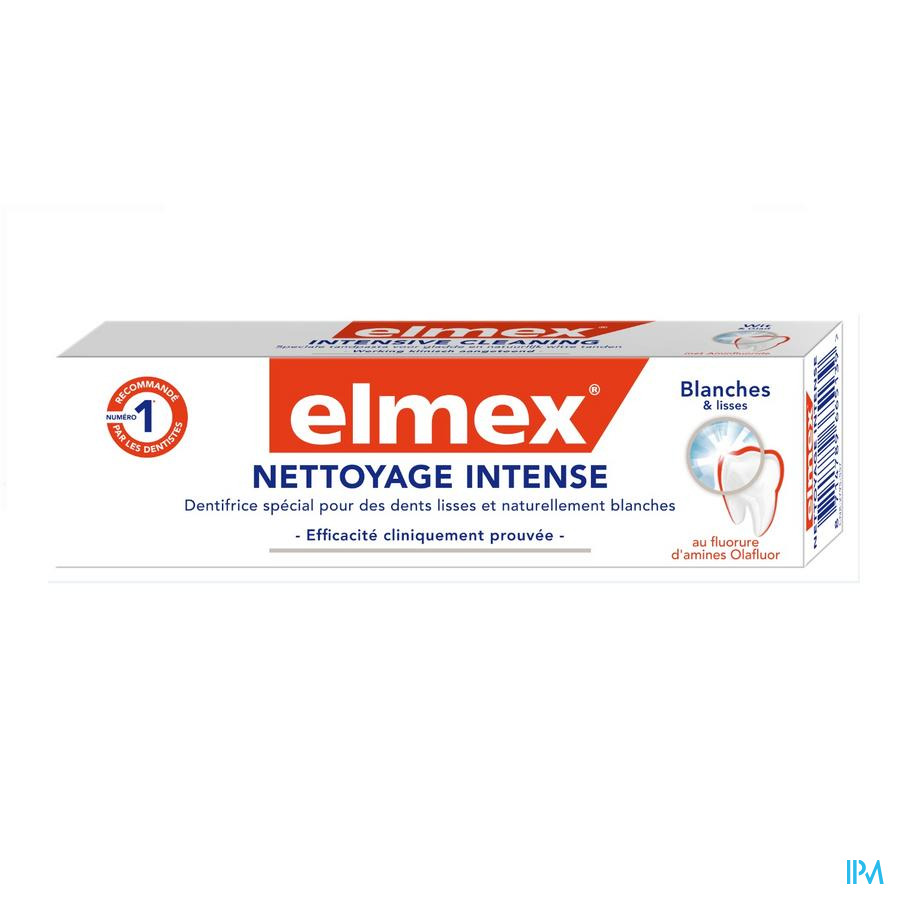 DENTIFRICE ELMEX® NETTOYAGE INTENSE TUBE 50ML