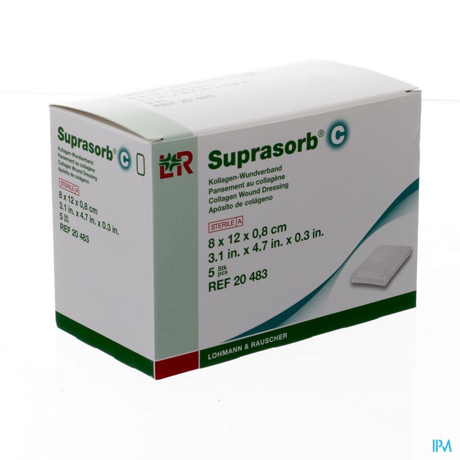 Suprasorb C Kp Steriel 8x12x0,8cm 5 20483