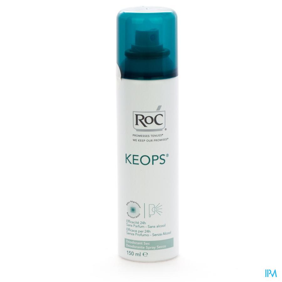 Roc Keops Deo Spray Sec S/alc S/parf Pn 150ml