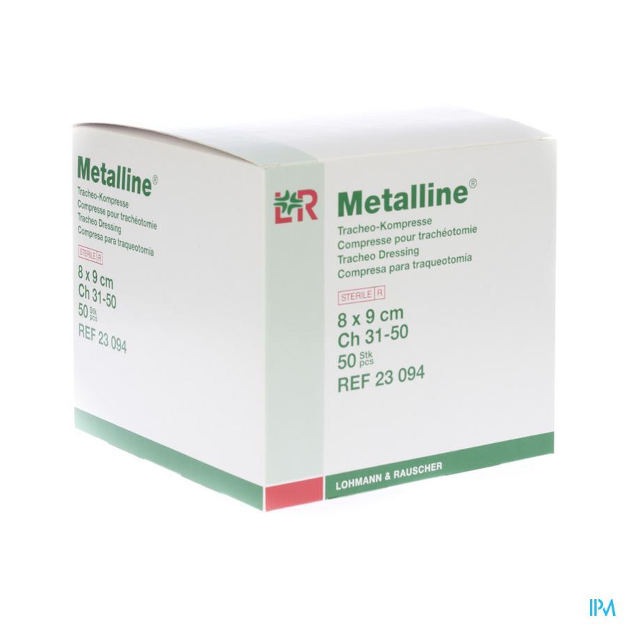 Metalline Compresse Tracheo Ster 8x9cm 50 23094