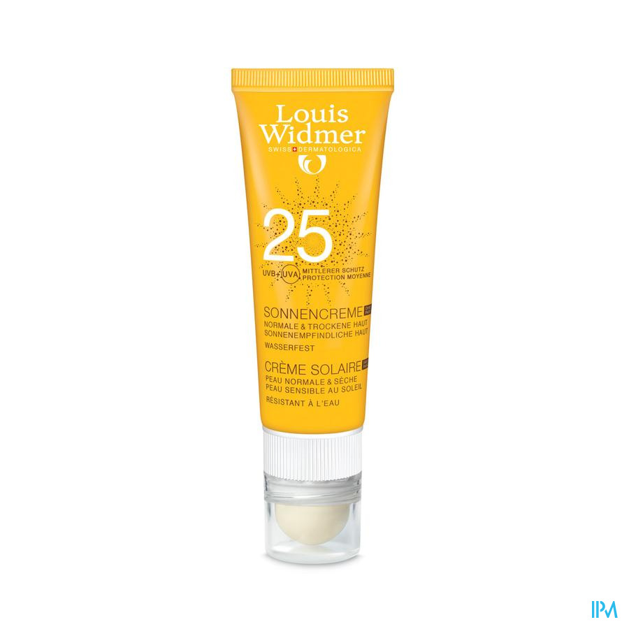Widmer Sun Cream 25 N/parf + Lipstick Tube 25ml
