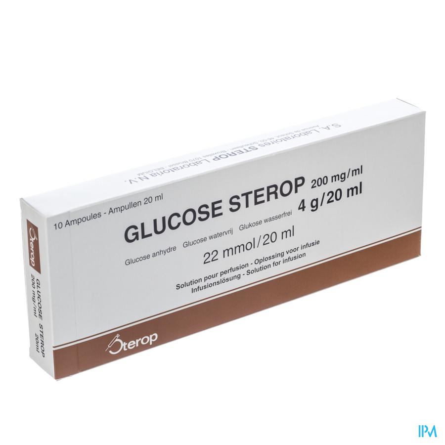 Glucose 20 % Sterop 4g/20ml 10