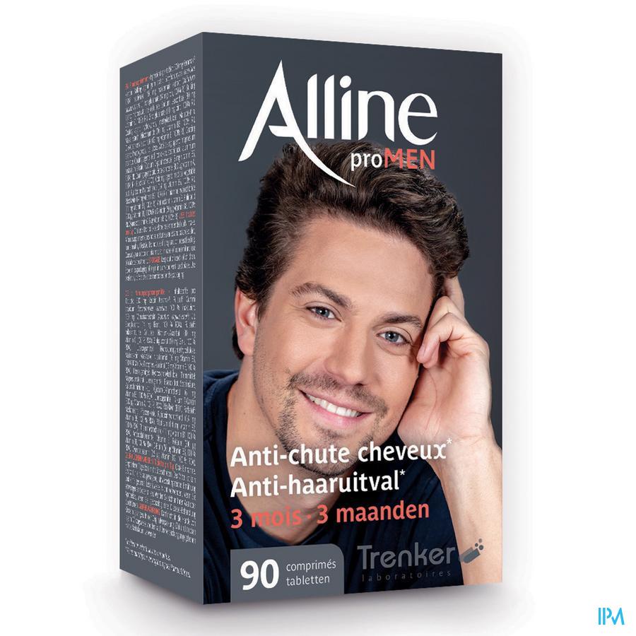 Afbeelding Alline Pro MEN Anti-Haaruitval voor 3 Maanden 90 Tabletten .