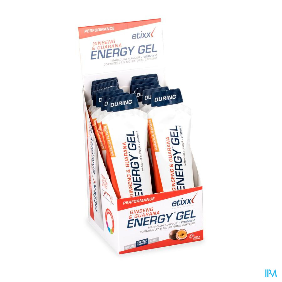 Etixx Ginseng&guarana Energy Gel Passion Fruit 12x50g