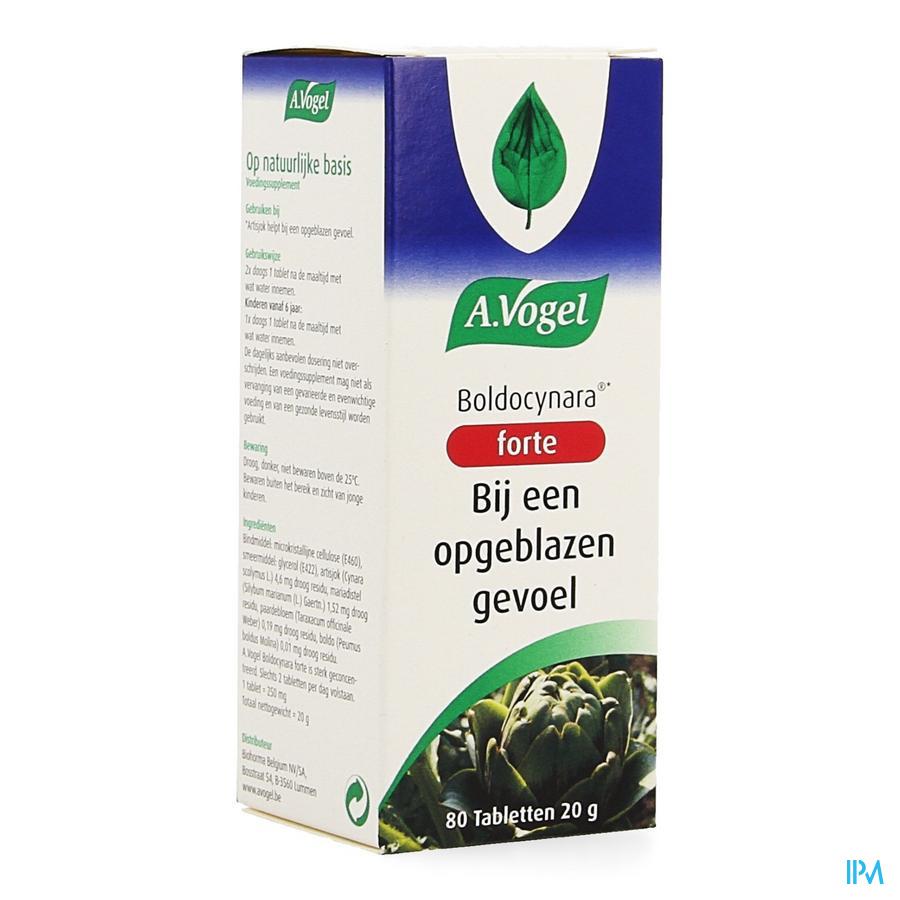 Afbeelding A. Vogel Boldocynara Forte bij een Opgeblazen Gevoel 80 Tabletten .