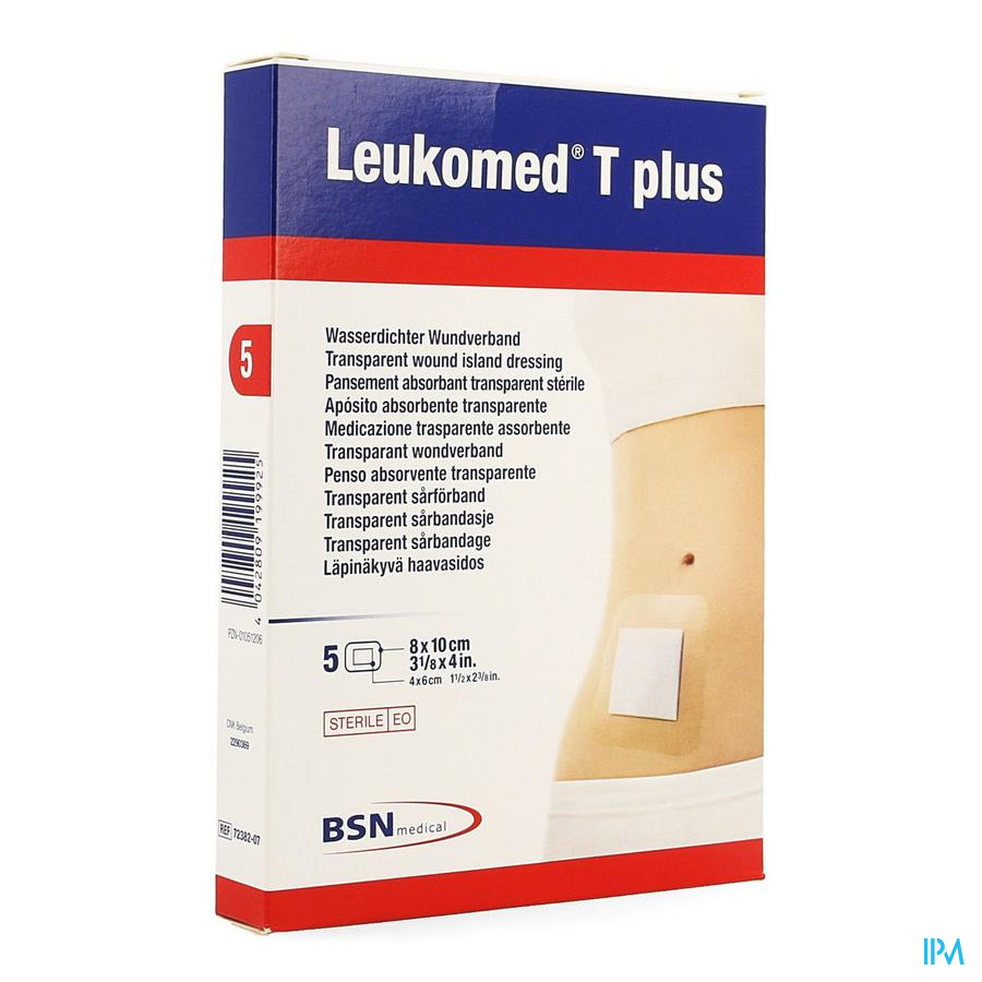 Leukomed T Plus Verb Ster 8,0cmx10cm 5 7238207