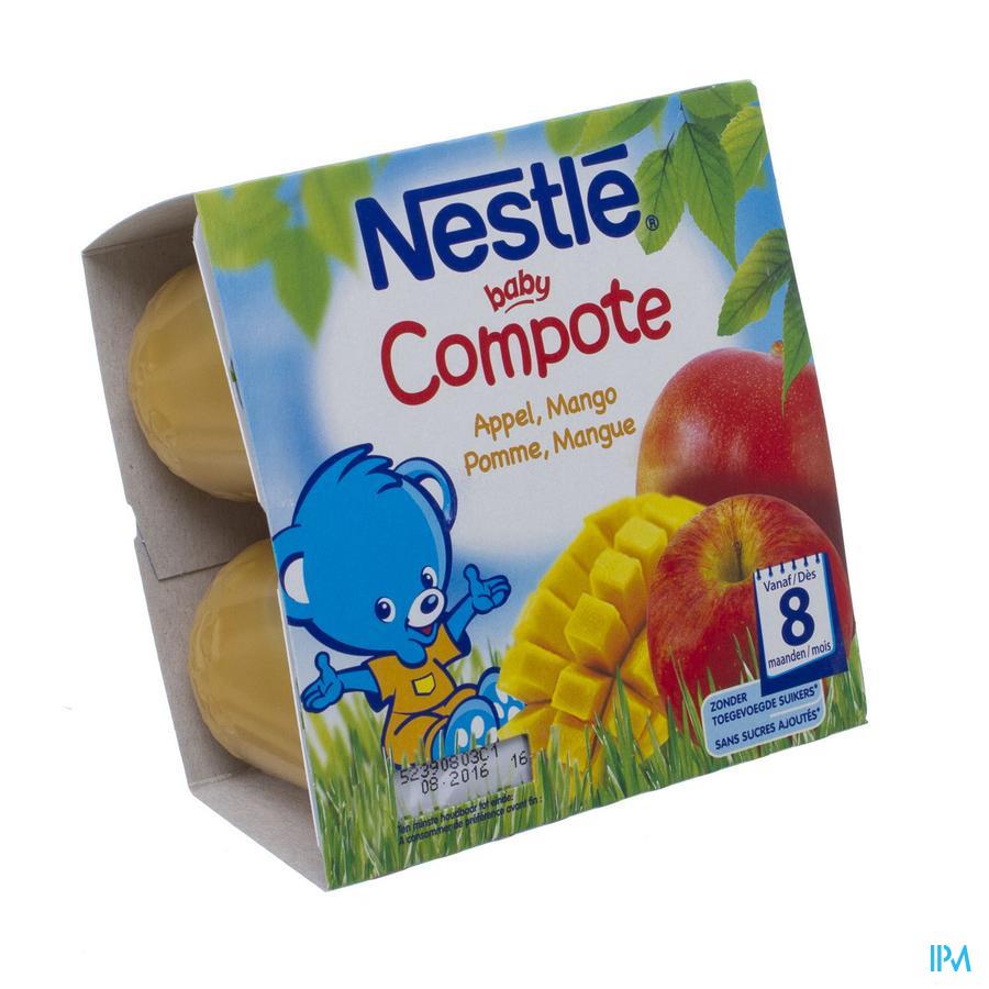 Nestle Baby Compote Pomme Mangue Pot 4x100g