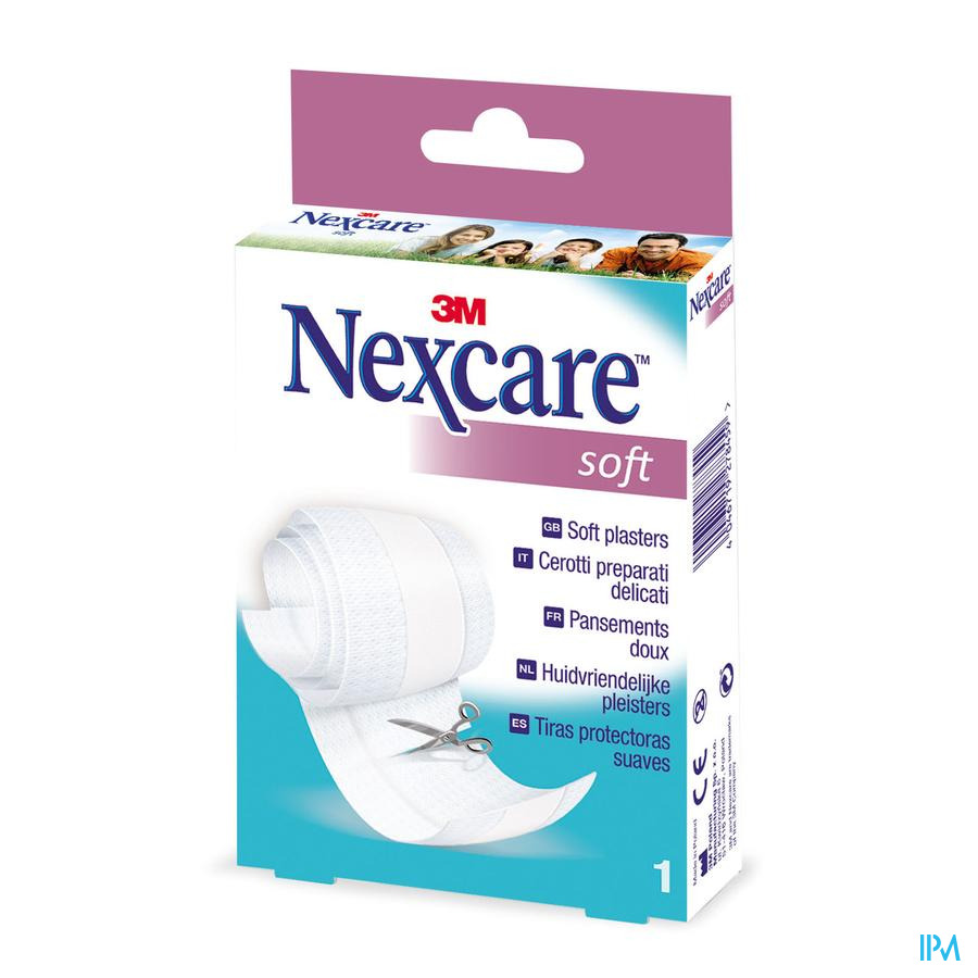 N051b Nexcare Soft Strips Band 8cm X 1m