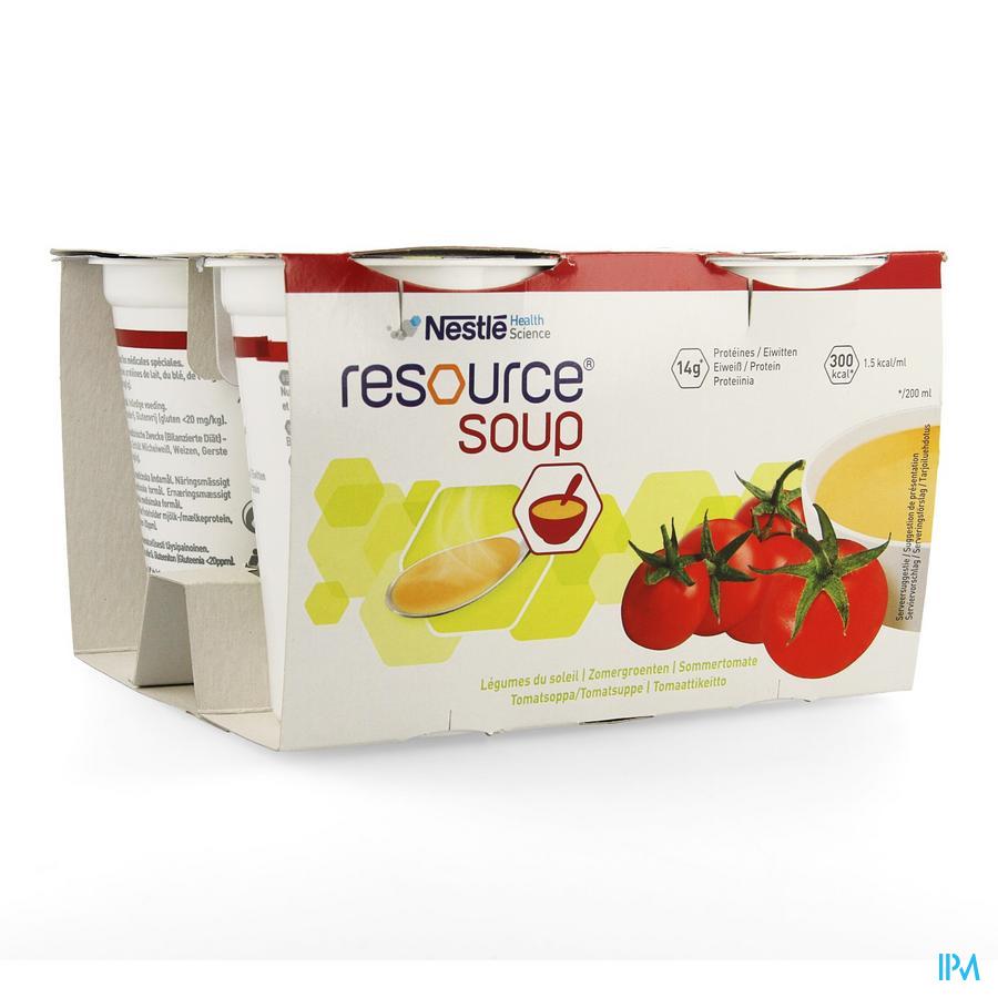Resource Groentensoep Van De Zon 4x200 ml 12112466  -  Nestle Belgilux